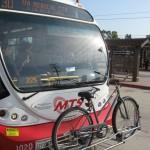 Таким образом автобусы перевозят велосипеды