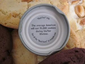 Среднестатистический американец съедает в среднем не менее одного печенья каждый день.