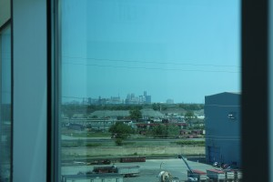 Вид на Детройт
