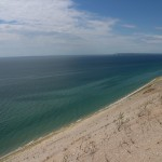 А вот и берег собственно озера Мичиган