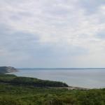 А здесь видно, как русло залива постепенно засыпается песком, и превращает залив в озеро
