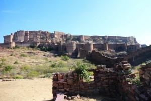 С парка открывается отличный вид на форт